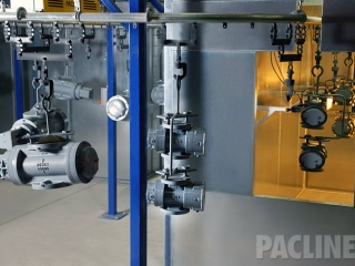 PAC-LINE™ overhead conveyor for a gas meter paint and finishing system.