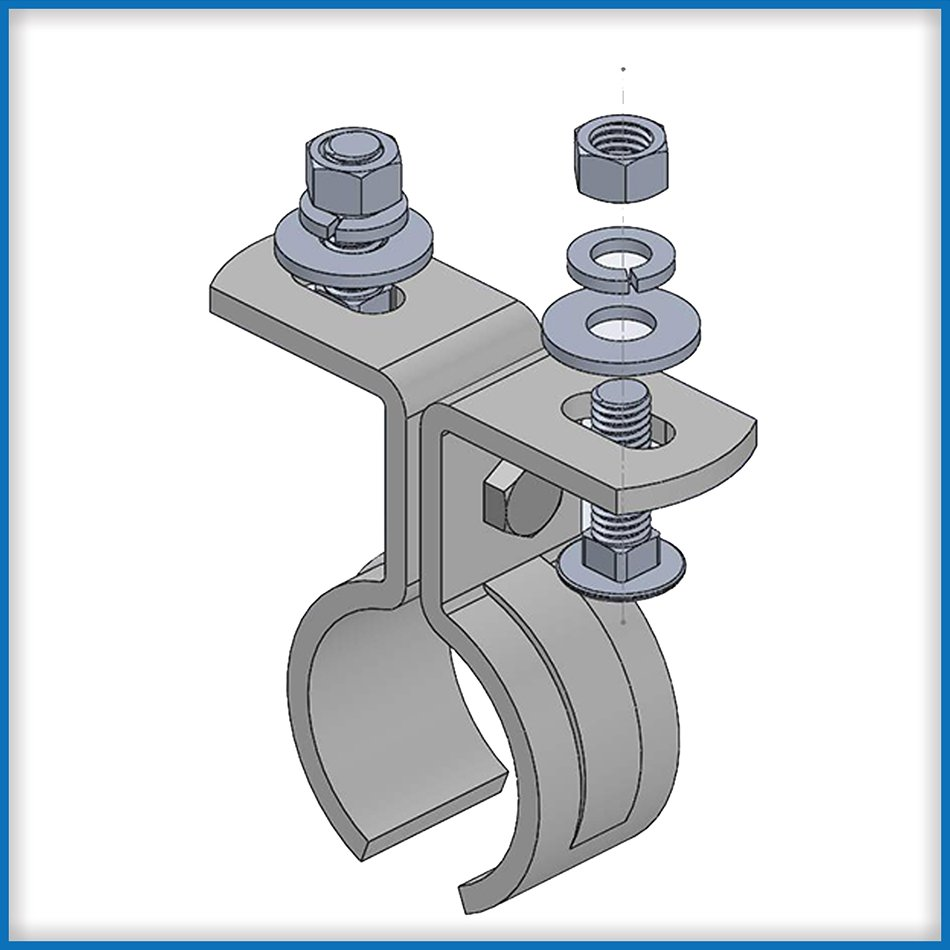 TH-210 Low Profile Track Hanger Clamp