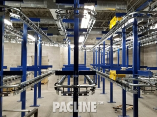 Jail property room conveyor for inmate property storage
