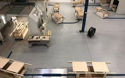 In-Floor Towline Conveyor Improves Wood Finishing Process