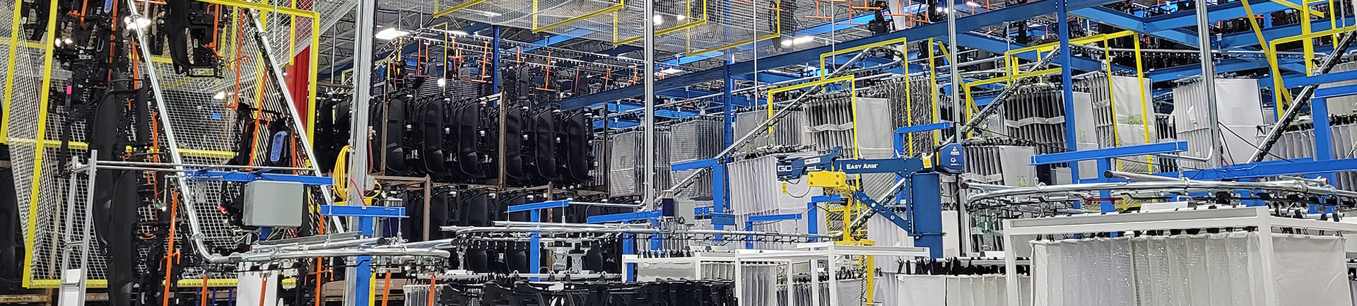 conveyors for automotive manufacturing facilities
